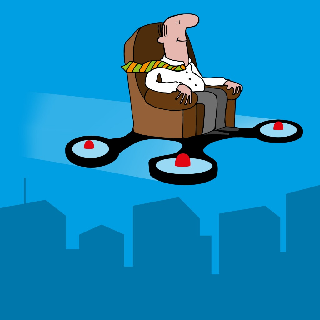 Travel to work flying armchair?
